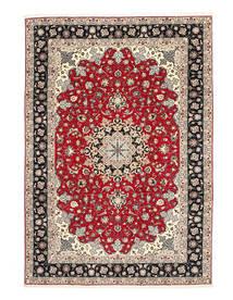 Tabriz 50 Raj Silkesvarp Matta 200X310 Äkta Orientalisk Handknuten Ljusgrå/Mörkgrå (Ull/Silke, Persien/Iran)