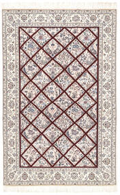 Nain 6La Matta 128X196 Äkta Orientalisk Handknuten Ljusgrå/Beige/Vit/Cremefärgad (Ull/Silke, Persien/Iran)