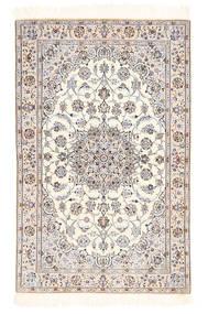 Nain 6La Matta 100X155 Äkta Orientalisk Handknuten Beige/Ljusgrå (Ull/Silke, Persien/Iran)