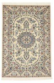Nain 6La Matta 100X147 Äkta Orientalisk Handknuten Beige/Ljusgrå (Ull/Silke, Persien/Iran)