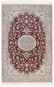 Nain 6La Matta 103X163 Äkta Orientalisk Handknuten Beige/Ljusgrå (Ull/Silke, Persien/Iran)