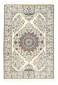 Nain 6La Matta 100X150 Äkta Orientalisk Handknuten Beige/Ljusgrå (Ull/Silke, Persien/Iran)
