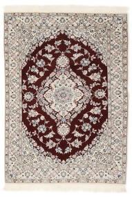 Nain 6La Matta 102X153 Äkta Orientalisk Handknuten Vit/Cremefärgad/Ljusgrå (Ull/Silke, Persien/Iran)