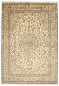 Kashmir Äkta Silke Matta 217X315 Äkta Orientalisk Handknuten Mörkbeige/Ljusbrun (Silke, Indien)