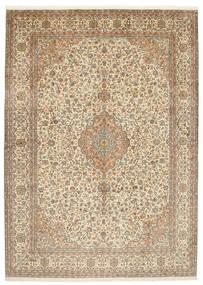 Kashmir Äkta Silke Matta 222X309 Äkta Orientalisk Handknuten Beige/Ljusgrå/Ljusbrun (Silke, Indien)