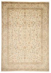 Kashmir Äkta Silke Matta 246X352 Äkta Orientalisk Handknuten Beige/Mörkbeige (Silke, Indien)