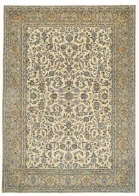 Keshan Patina Signerad: Tabatabai Matta 275X390 Äkta Orientalisk Handknuten Beige/Mörkgrå Stor (Ull, Persien/Iran)