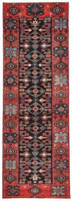 Saveh Patina Matta 100X303 Äkta Orientalisk Handknuten Hallmatta Mörkbrun/Mörkröd (Ull, Persien/Iran)