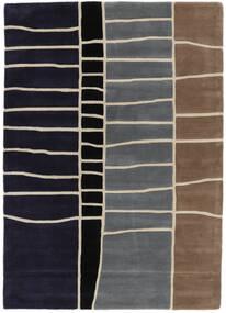 Abstract Bambu Handtufted Matta 160X230 Modern Mörklila/Ljusgrå (Ull, Indien)