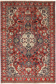 Bakhtiar Matta 205X310 Äkta Orientalisk Handknuten Mörkröd/Mörkbrun (Ull, Persien/Iran)