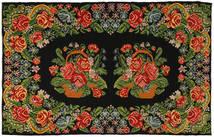 Rosenkelim Matta 191X304 Äkta Orientalisk Handvävd Mörkgrön/Olivgrön (Ull, Moldavien)