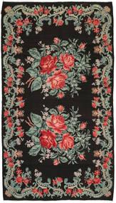 Rosenkelim Matta 186X331 Äkta Orientalisk Handvävd Mörkgrå/Mörkgrön (Ull, Moldavien)