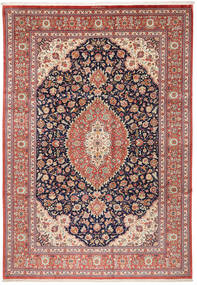 Ghom Silke Matta 240X348 Äkta Orientalisk Handknuten Brun/Beige (Silke, Persien/Iran)