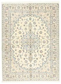 Nain 9La Matta 146X200 Äkta Orientalisk Handknuten Beige/Ljusgrå (Ull/Silke, Persien/Iran)