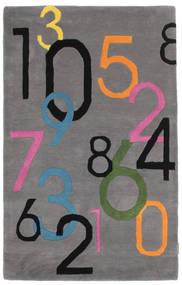 Lucky Numbers - Grå Matta 100X160 Modern Mörkbrun/Mörkgrå (Ull, Indien)