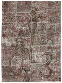Patchwork Matta 174X240 Äkta Modern Handknuten Mörkgrå/Ljusgrå (Ull, Persien/Iran)