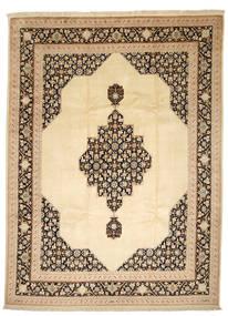 Tabriz 50 Raj Med Silke Matta 250X338 Äkta Orientalisk Handknuten Mörkbeige/Beige Stor (Ull/Silke, Persien/Iran)
