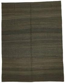 Kelim Moderna Matta 216X284 Äkta Modern Handvävd Mörkbrun/Mörkgrön (Ull, Afghanistan)