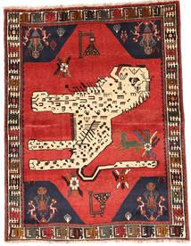Ghashghai Matta 121X159 Äkta Orientalisk Handknuten Mörkbrun/Beige (Ull, Persien/Iran)