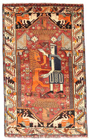 Ghashghai Matta 103X169 Äkta Orientalisk Handknuten Mörkbrun/Mörkröd (Ull, Persien/Iran)