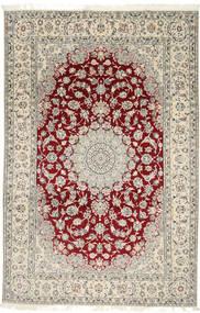 Nain 9La Matta 202X310 Äkta Orientalisk Handknuten Ljusgrå/Beige (Ull/Silke, Persien/Iran)