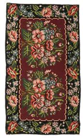 Rosenkelim Moldavia Matta 152X270 Äkta Orientalisk Handvävd Mörkröd/Mörkbrun (Ull, Moldavien)