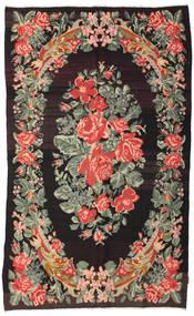 Rosenkelim Moldavia Matta 168X275 Äkta Orientalisk Handvävd Mörkbrun/Mörkgrå (Ull, Moldavien)