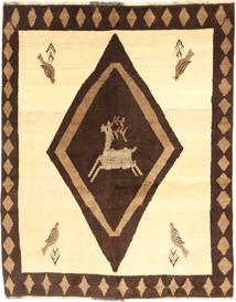 Ghashghai Matta 154X194 Äkta Orientalisk Handknuten Gul/Mörkbrun (Ull, Persien/Iran)