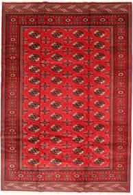 Turkaman Matta 201X293 Äkta Orientalisk Handknuten Roströd/Mörkröd/Röd (Ull, Persien/Iran)