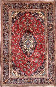 Keshan Matta 198X311 Äkta Orientalisk Handknuten Mörkröd/Roströd (Ull, Persien/Iran)