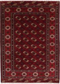 Turkaman Matta 208X287 Äkta Orientalisk Handknuten Mörkröd/Mörkbrun (Ull, Persien/Iran)