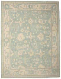 Usak Matta 337X437 Äkta Orientalisk Handknuten Ljusgrå/Ljusbrun Stor (Ull, Turkiet)
