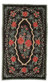 Rosenkelim Moldavia Matta 154X258 Äkta Orientalisk Handvävd Mörkbrun/Mörkgrå (Ull, Moldavien)