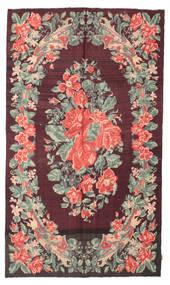 Rosenkelim Moldavia Matta 164X280 Äkta Orientalisk Handvävd Mörkbrun/Mörklila (Ull, Moldavien)