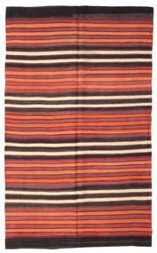 Kelim Semiantik Turkisk Matta 188X309 Äkta Orientalisk Handvävd Mörkröd/Mörkbrun/Roströd (Ull, Turkiet)