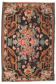 Rosenkelim Moldavia Matta 184X277 Äkta Orientalisk Handvävd Svart/Mörkgrå (Ull, Moldavien)
