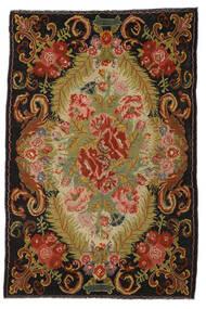 Rosenkelim Moldavia Matta 194X297 Äkta Orientalisk Handvävd Röd/Mörkbrun (Ull, Moldavien)
