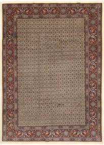 Moud Sherkat Farsh Matta 203X283 Äkta Orientalisk Handknuten Ljusgrå/Mörkröd (Ull/Silke, Persien/Iran)