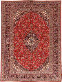 Keshan Matta 292X395 Äkta Orientalisk Handknuten Mörkröd/Roströd Stor (Ull, Persien/Iran)