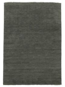Handloom Fringes - Mörkgrå Matta 160X230 Modern Mörkgrå (Ull, Indien)