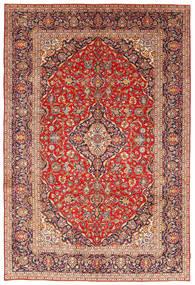 Keshan Matta 243X351 Äkta Orientalisk Handknuten Roströd/Mörkröd (Ull, Persien/Iran)