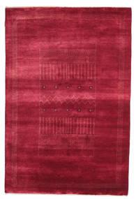 Gabbeh Loribaft Matta 146X222 Äkta Modern Handknuten Röd/Mörkröd (Ull, Indien)