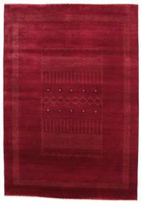 Gabbeh Loribaft Matta 151X219 Äkta Modern Handknuten Mörkröd/Röd (Ull, Indien)