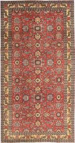 Tabriz Patina Matta 168X318 Äkta Orientalisk Handknuten Mörkröd/Ljusbrun (Ull, Persien/Iran)