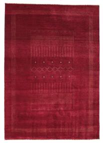 Gabbeh Loribaft Matta 150X223 Äkta Modern Handknuten Mörkröd/Röd (Ull, Indien)