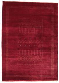 Gabbeh Loribaft Matta 156X221 Äkta Modern Handknuten Mörkröd/Röd (Ull, Indien)