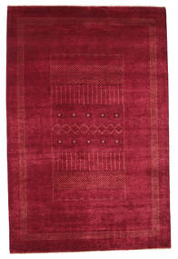 Gabbeh Loribaft Matta 151X230 Äkta Modern Handknuten Röd/Mörkröd (Ull, Indien)