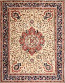 Tabriz Patina Matta 305X390 Äkta Orientalisk Handknuten Ljusbrun/Beige Stor (Ull, Persien/Iran)