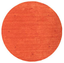 Loribaf Loom Matta Ø 202 Äkta Modern Handknuten Rund Orange/Röd (Ull, Indien)