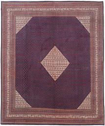 Sarough Mir Matta 319X397 Äkta Orientalisk Handknuten Mörklila/Ljuslila Stor (Ull, Persien/Iran)